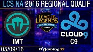 Immortals vs Cloud9 - LCS NA Regional Qualifiers - Day 3
