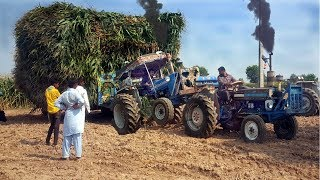 Ford 4000 Stuck with Heavy load Trolly/ Best tractor tochan and tractor pulling