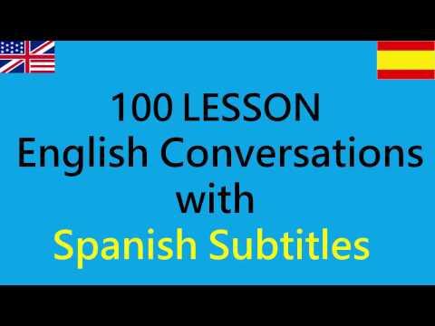 Conversación diaria en inglés con subtítulos en español - 100 lecciones