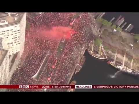 BBC News Report - Liverpool Champions League Parade 2019