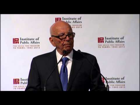 rupert murodch - Rupert Murdoch says free markets are not just the most efficient system, but also the most moral one. On 4 April 2013 Rupert Murdoch addressed the 70th Anniv...