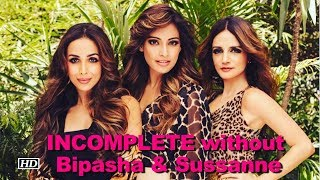 बॉलीवुड अदाकारा मलायका अरोरा बिपाशा बसु और सुजैन खान तीनों एक दूसरें की खास दोस्त हैं।  कई बार तीनों को एक साथ समय बिताते देखा गया है । मलायका का कहना हैं कि वो बिपाशा और सुजैन के बिना अधूरा महसूस करती हैं।   Subscribe to Khabar Filmy Now - http://goo.gl/8CGyTZ LIKE  COMMENT  SHARE