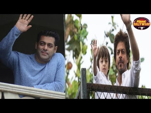 Fans Flock Shahrukh Khan & Salman Khan's House On