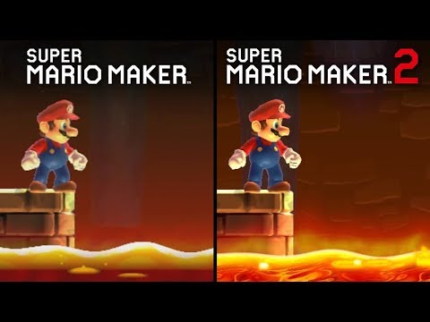 Super Mario Maker 2 vs Super Mario Maker | Direct Comparison