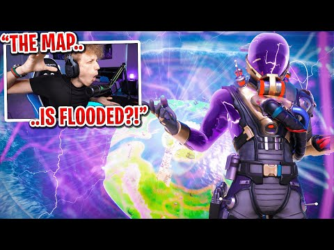REACTING TO THE FORTNITE MAP FLOODING... (Fortnite Season 3 EVENT)