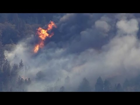 RAW: Aerial Footage Of Camp Fire Burning In Butte County