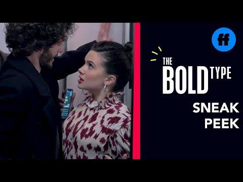 The Bold Type Season 4, Episode 13 | Sneak Peek: Jane & Scott Get Cozy In The Elevator | Freeform