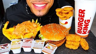ASMR IN N OUT BURGER KING MUKBANG IMPOSSIBLE WHOPPER CHICKEN NUGGETS ANIMAL STYLE FRIES JERRY EATING
