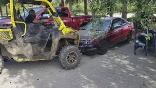 9. Can am defender  xmr crushing acura