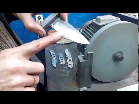 Как сделать спуск у ножа