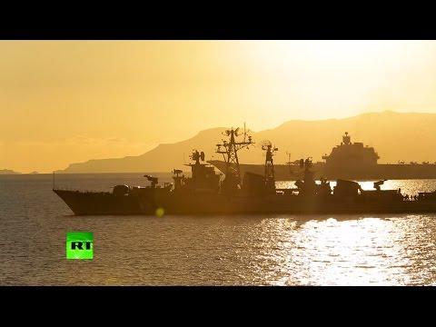 Самые зрелищные моменты учений ВМФ России - DomaVideo.Ru