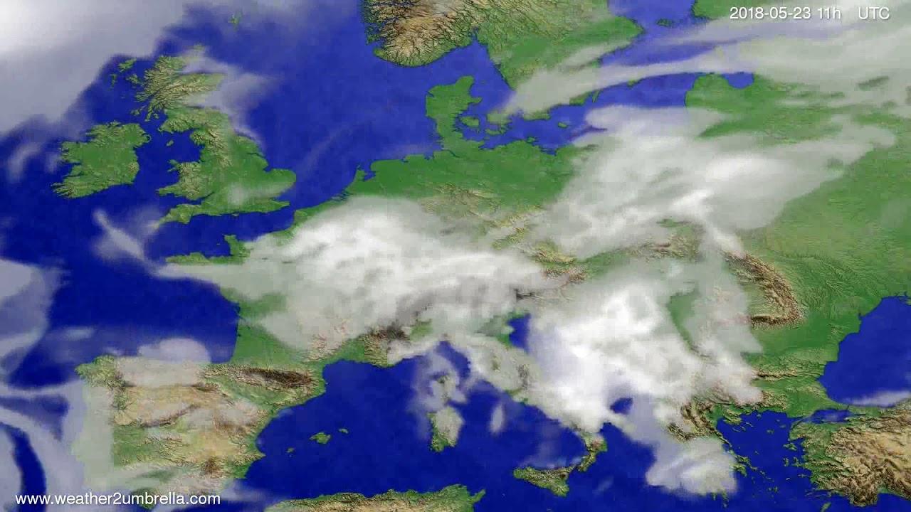 Cloud forecast Europe 2018-05-20