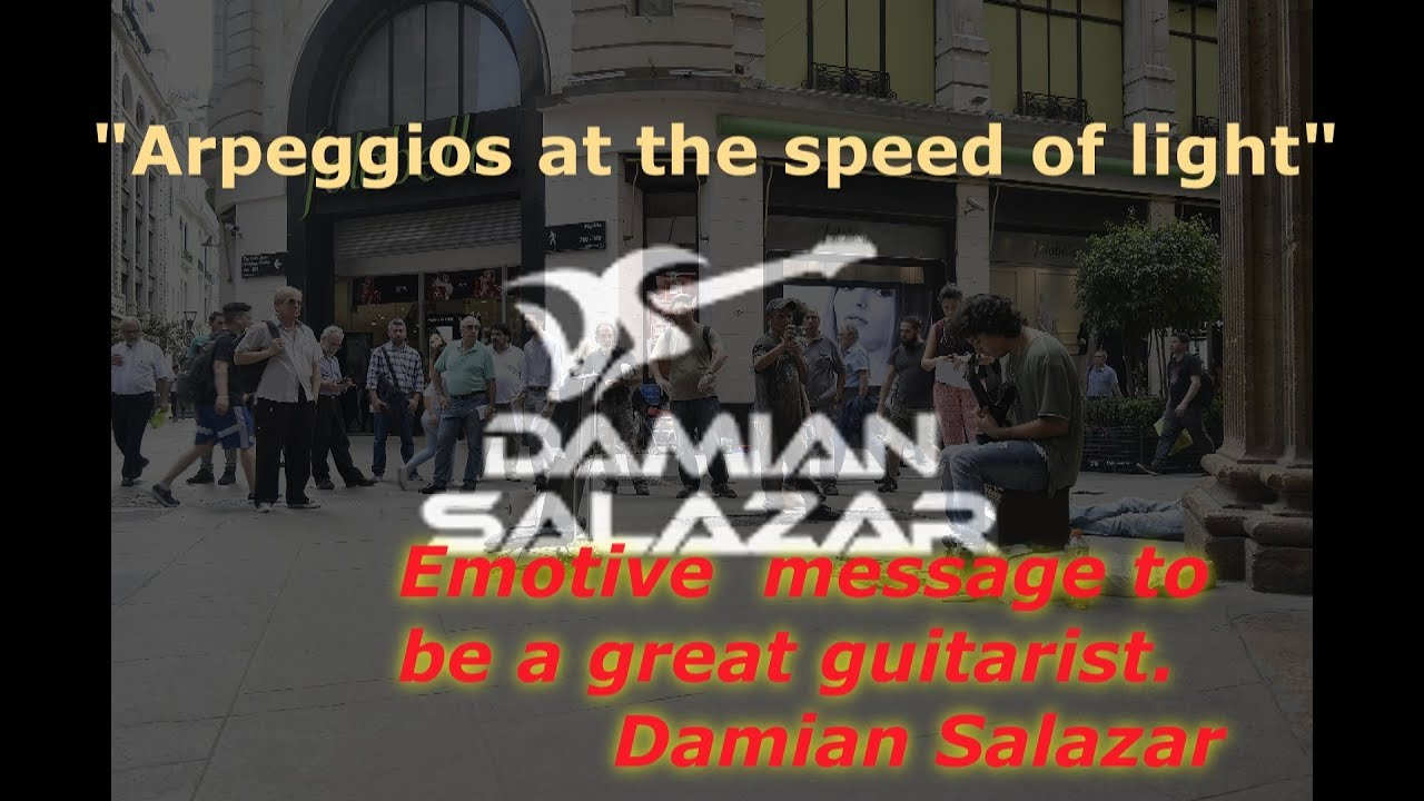The intensity of passion – Arpeggios at the speed of light – in electric guitar