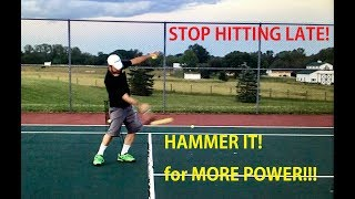 """In this video, Coach Daniel shows us the secret to the Hammer It Tennis unique approach to hammering the ball for maximum power!  If you are tired of hitting the ball late and feeling jammed on shots, or if you feel like you swing """"hard"""" or """"fast"""" at the ball but still cannot generate any pace on the ball, this video is for you!"""