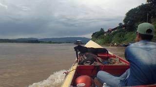 Houayxay Laos  city photos : Mr.hotsia & Hugsia in Pak Khob's Speed boat at Houayxay Laos ท่าเรือห้วยทราย