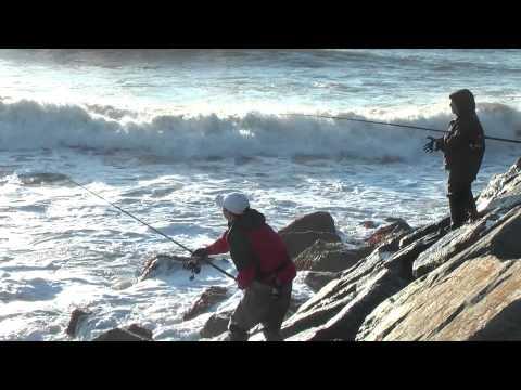Surf Fishing Under Montauk Point Lighthouse – Fall 2011