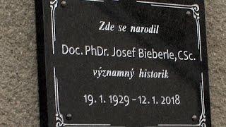 V Lošticích byla odhalena pamětní deska Josefa Bieberleho
