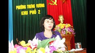Phó Chủ tịch Thường trực HĐND tỉnh Trịnh Thị Minh Thanh dự sinh hoạt chi bộ khu 2, phường Trưng Vương