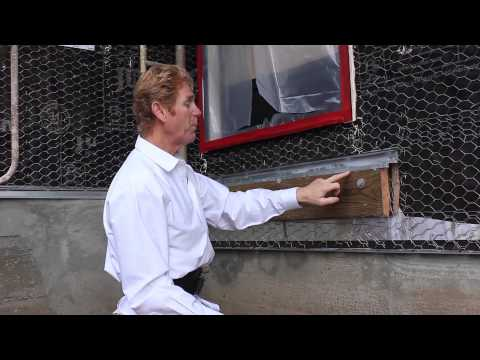 Installing a ledger board before stucco, ledger board attaches to the substrate not over the stucco