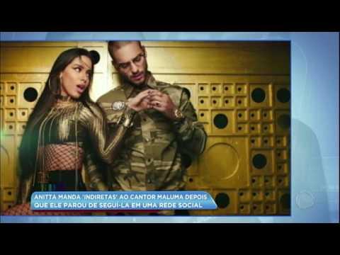 Hora da Venenosa: Anitta manda indiretas para Maluma em rede social