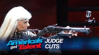 Silvia Silvia: Grandma Shoots Apple on Her Own Head - America's Got Talent 2015