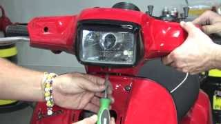 6. HID Kit on a Vespa S 150