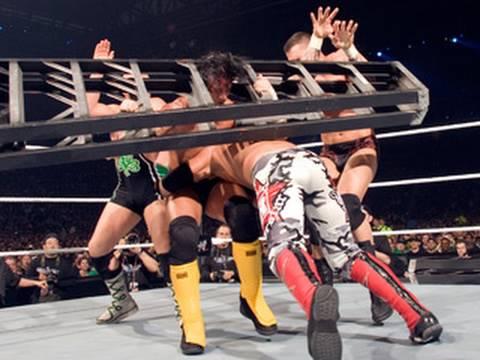 Edge Spears Seven Men - WrestleMania 23