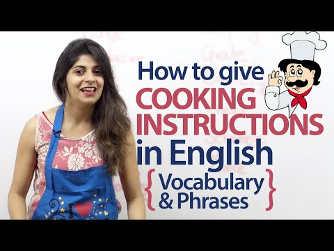 Giving Cooking Instructions In English - Vocabulary And Phrases ( Free Spoken English Lesson)