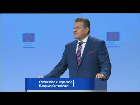 Μ. Σέφκοβιτς:Σχοινάς, Γιόχανσον και Λέναρσιτς ενημέρωσαν το Σώμα των Επιτρόπων για την Μόρια