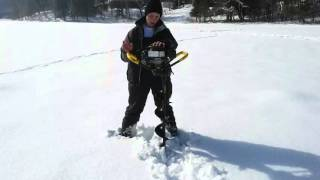 9. 2004 Jiffy Model 31 Legend XT ice fishing auger with 4.5HP 85cc Tecumseh 2 stroke engine PART 2