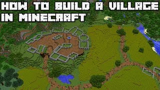 How to Build an Awesome Village in Minecraft 1.13 Vanilla [WORLD DOWNLOAD]