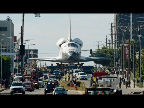 Spacevidcast - OV-105 or Space Shuttle Endeavour took one final mission, from the Los Angeles International Airport to the California Science Center. We take a quick peek a...