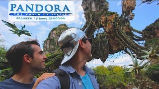 First Vlogger inside Disney World's Pandora The World Of Avatar at Animal Kingdom. We rode James Cameron's Flight Of Passage Ride and Na'vi River Journey Ride with the Shaman of Songs. We ate at Satu'li Canteen quick service which was amazing as a Cast Member. We had alcoholic Mo'ara Frozen Margarita drinks at Pongu Pongu. We saw exclusive are Windtraders merchandise gift shop. Chris had a Banshee Connect experience in Pandora.