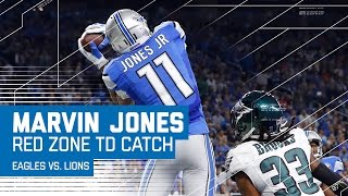 Marvin Jones Makes Incredible Toe Tap TD Catch! | Eagles vs. Lions | NFL by NFL