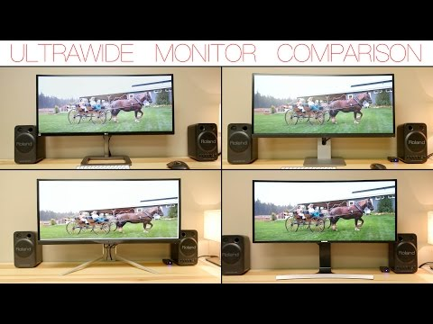 4 Ultrawide Monitors Compared! LG – DELL – ACER – SAMSUNG – 3440X1440P