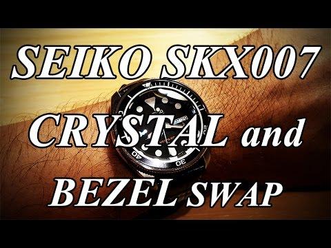 Seiko SKX007 Mods - AR Coated Double Dome Sapphire Crystal, Coin Edge Bezel, New Bezel Insert