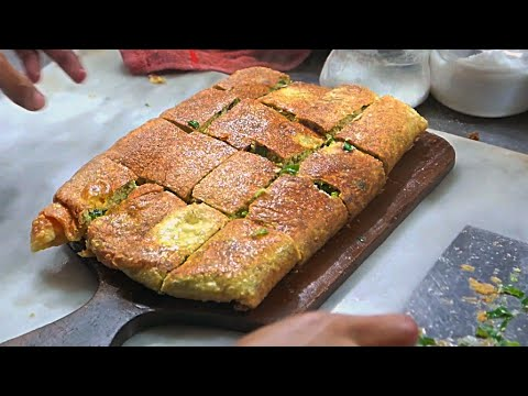 Indonesian Street Food - Minced Beef And Egg Martabak