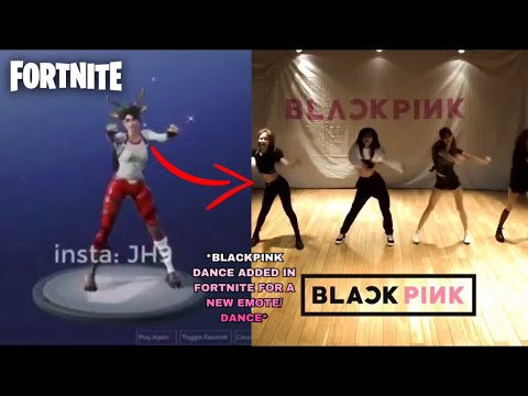 "BLACKPINK ""As If Its Your Last"" Dance Move Is Going To Be Added In Fortnite For A New Emote/Dance"
