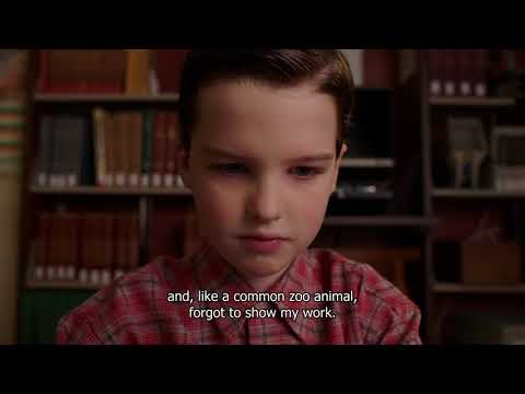 Getting B+ in math test End of life - Young Sheldon S01E05
