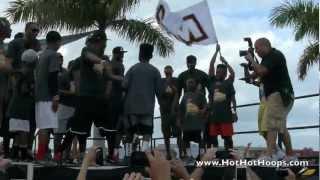 Miami HEAT Harlem Shake LIVE @ 2013 Family Festival - LeBron James, Dwyane Wade, Birdman