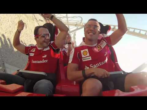 Alonso & Massa - Onboard camera on Formula Rossa - Ferrari World Abu Dhabi