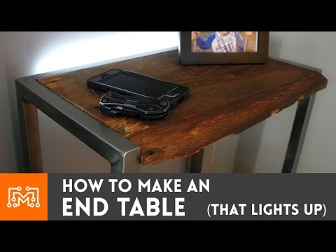 Bedside table with a built in night light // How-To