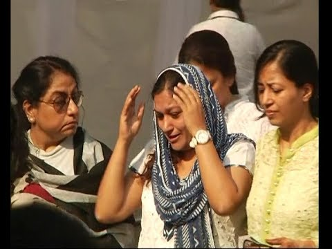 Friends and family cry as they pay tribute to actress Sridevi