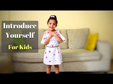 Introduce Yourself  In English for School Kids | Speech on Myself for Kids in English|About Myself