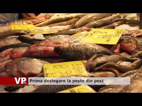 Prima dezlegare la pește din post