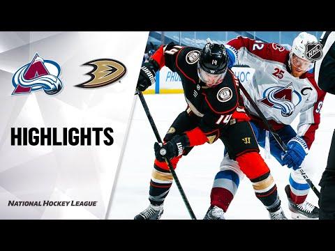 Avalanche @ Ducks 1/22/21 | NHL Highlights