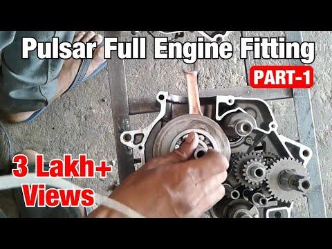 Bajaj pulsar 180cc full engine fitting Part 1