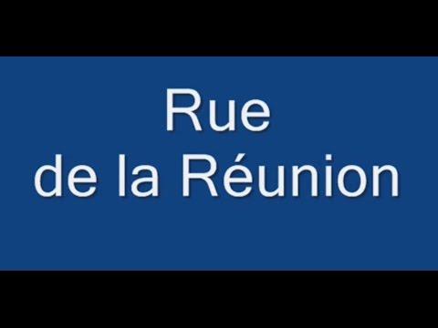 Rue de la Réunion Paris Arrondissement  20e