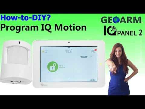 Qolsys IQ Motion - IQ Panel 2 Programming
