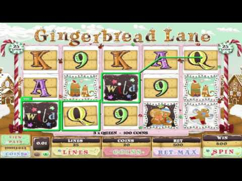 Free Gingerbread Lane slot machine by Genesis Gaming gameplay ★ SlotsUp